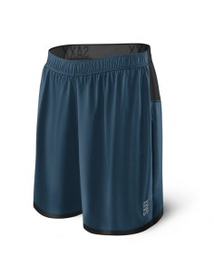Pantalón 2en1 SAXX Pilot Run Shorts Velvet Blue Heather