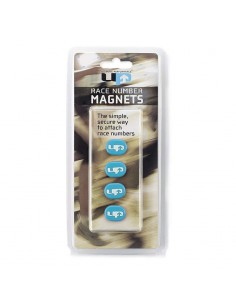 Imanes Porta-Dorsal UP Magnetic Race Numbers Holders color azul