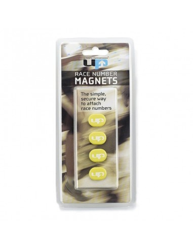 Imanes Porta-Dorsal UP Magnetic Race Numbers Holders color amarillo