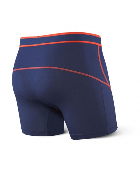 Calzoncillos Deportivos SAXX Kinetic Boxer Brief Midnight Blue/Orange