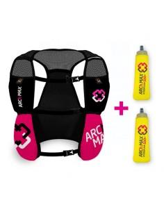 Chaleco de hidratación 4.5 litros para Trail Running Arch Max color rosa