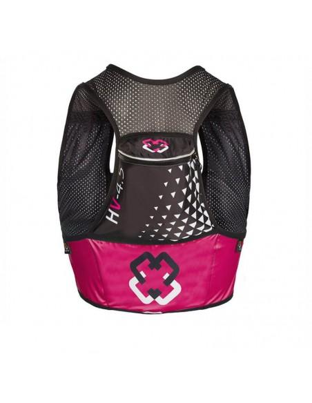 Chaleco de hidratación 4.5 litros para Trail Running Arch Max color rosa bolsillo trasero