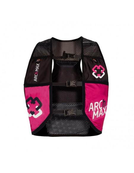 Chaleco de hidratación 4.5 litros para Trail Running Arch Max color rosa frontal
