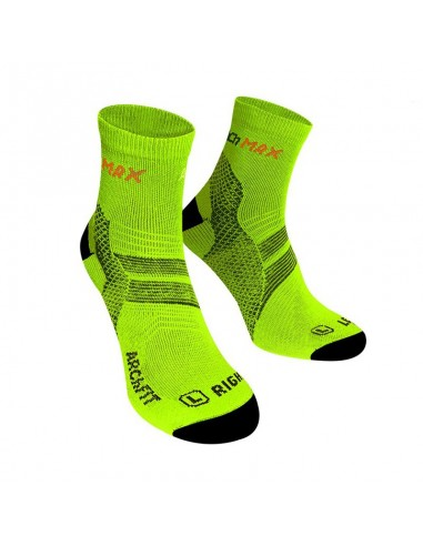 Calcetines Running ARCh MAX ARChFIT Run de color amarillo