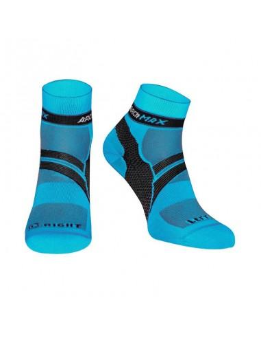 Calcetines Running ARCh MAX ARChFIT Ungravity de color azul turquesa