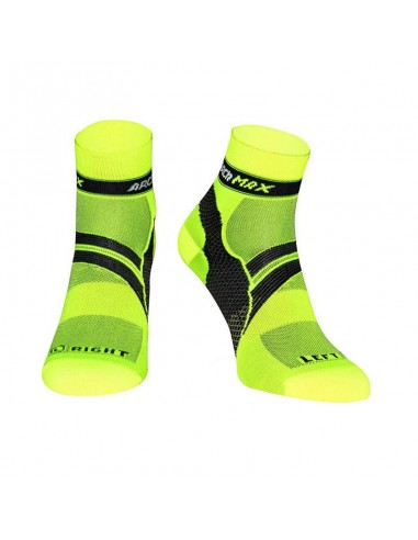 Calcetines Running ARCh MAX ARChFIT Ungravity de color amarillo